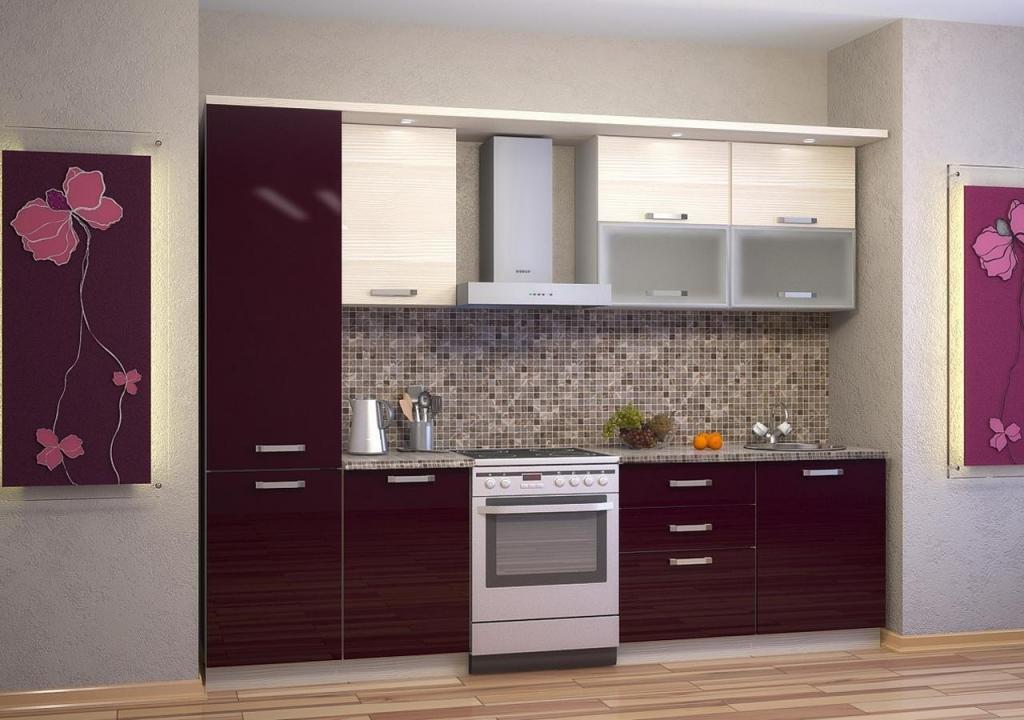 Кухня с мебельным щитом